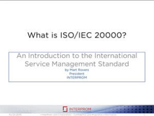 What is ISO-IEC 200000 - Presentation
