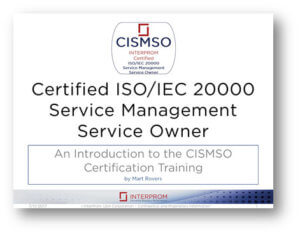 Certified ISO IEC 20000 Service Management Service Owner