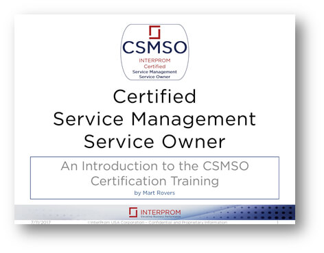 Certified Service Management Service Owner