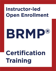 Instructor-led Open Enrollment BRMP Certification Training