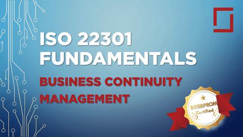 ISO 22301 Fundamentals Certification Training